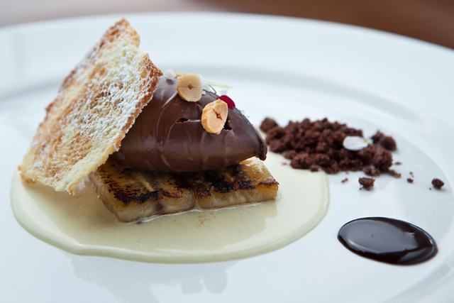 Papo de Cozinha – Top 10 São Paulo Restaurant Week – Crémeux Choco-Banane Valrhona, sobremesa do Eau French Grill