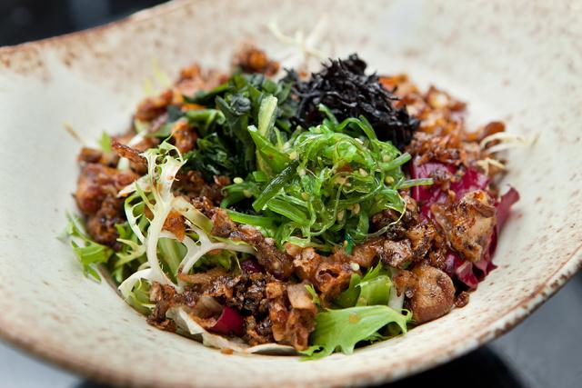 Papo de Cozinha – São Paulo Restaurant Week – Kaiso Salad: Mix de folhas com variedade de algas japonesas e crocante de shimeji
