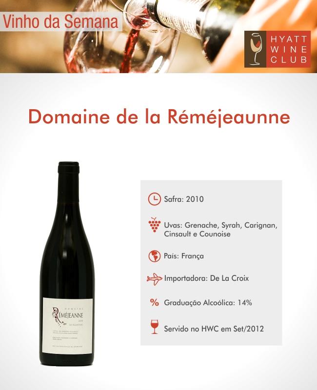 Hyatt Wine Club - Domaine de la Remejeanne Les Chevrefeuilles Cotes du Rhone 2010