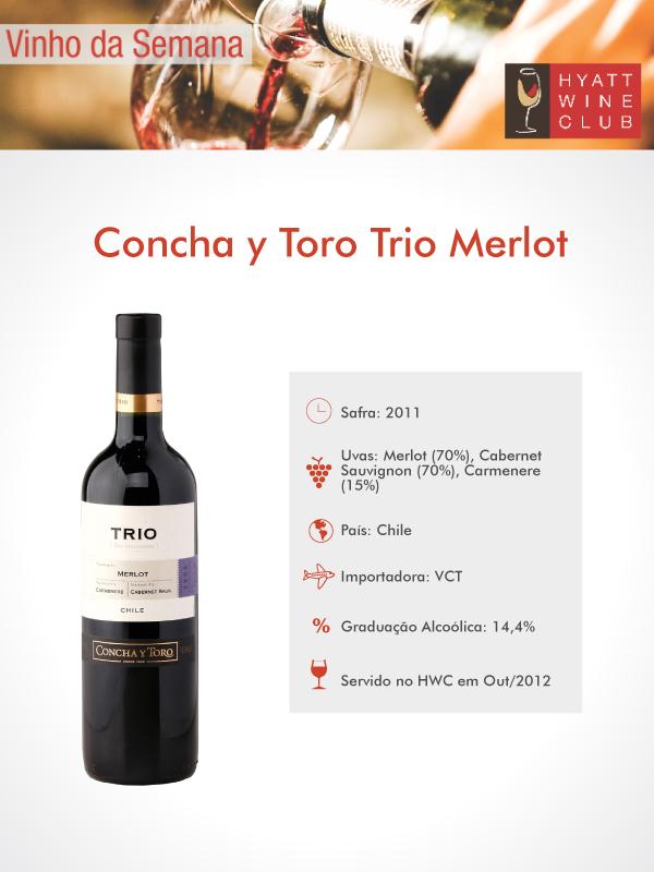 Hyatt Wine Club - Concha y Toro Trio Merlot