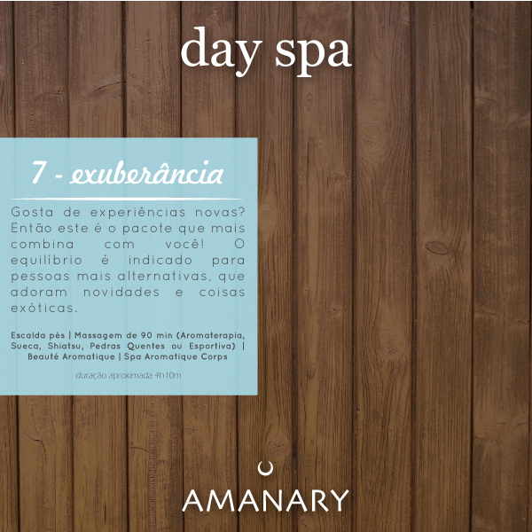 Day Spa - Pacote Exuberancia