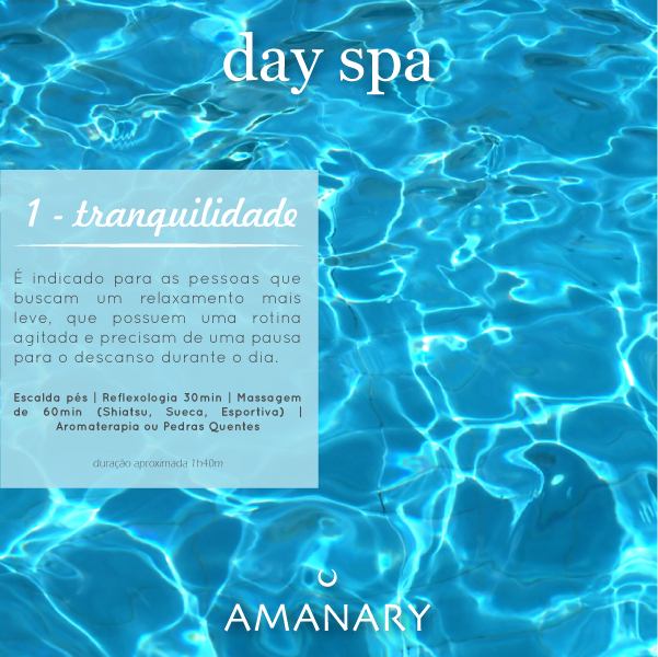Day Spa - Pacote Tranquilidade