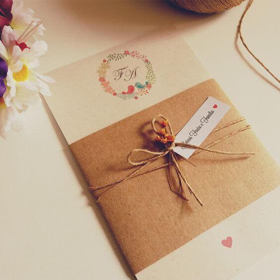 7 modelos de convite de casamento diferentes para você se inspirar