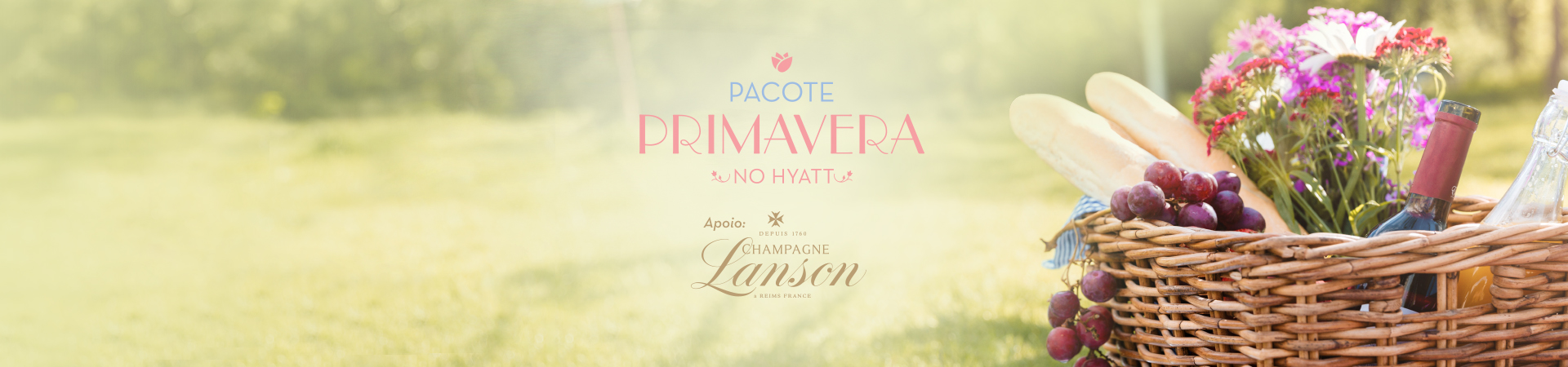 Pacote Primavera no Hyatt com piquenique e bar de rosés