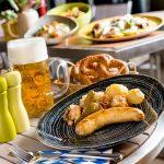 Festival Beerfest com comida alemã