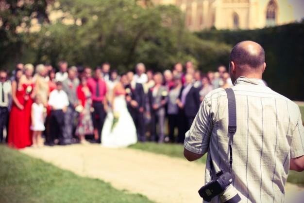 Fotógrafo no Ensaio de Casamento