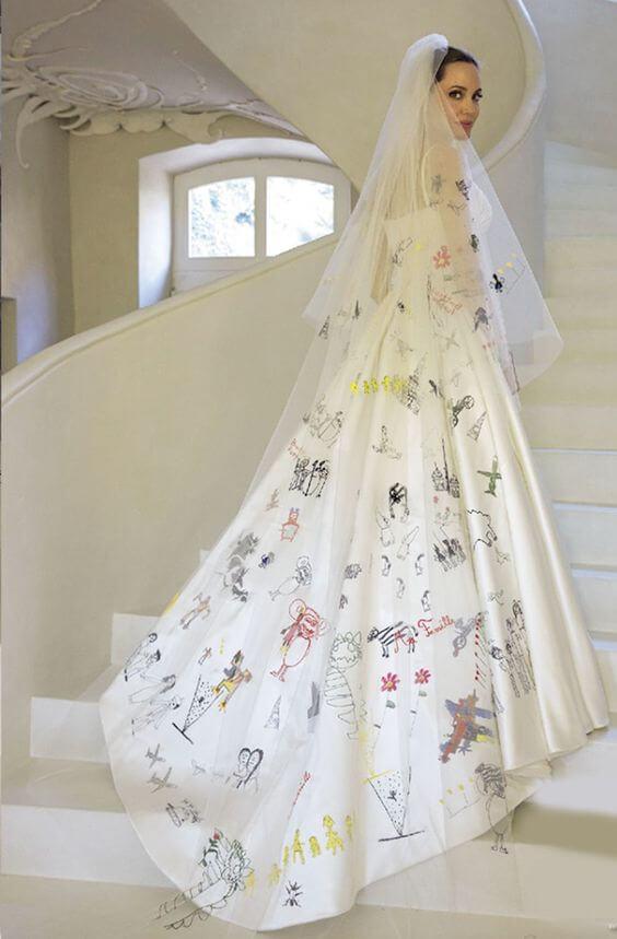 vestidos de noiva angelina jolie