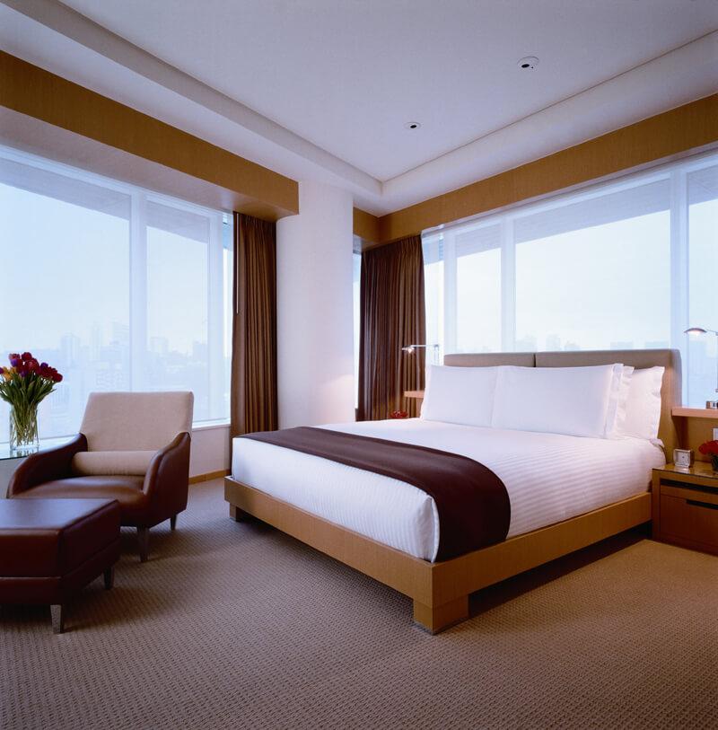 cama e poltrona acomodações do hyatt férias de dezembro