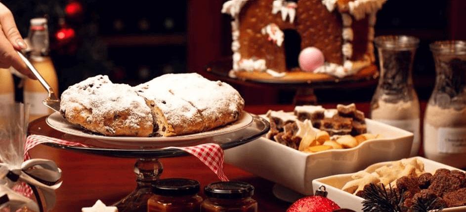 jantar de natal com pratos tradicionais