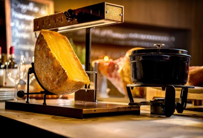 Festival de inverno com queijo