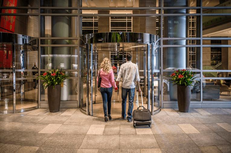 lobby de entrada do grand hyatt são paulo