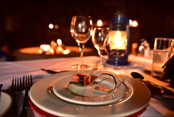 Imagem de um prato no restaurante