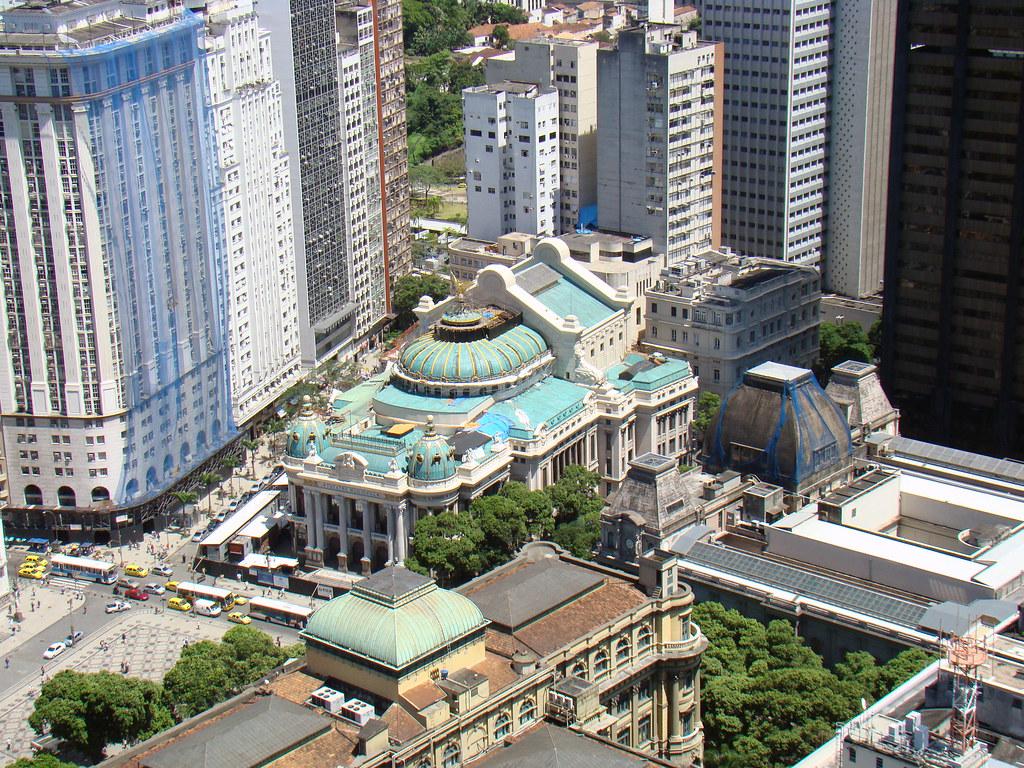 Centro do Rio de Janeiro visto de cima