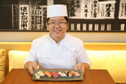 Miriam, sushiwoman do Grand Hyatt