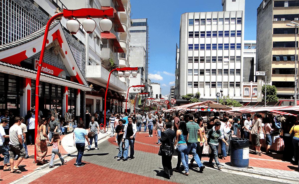 Férias em São Paulo no bairro da Liberdade